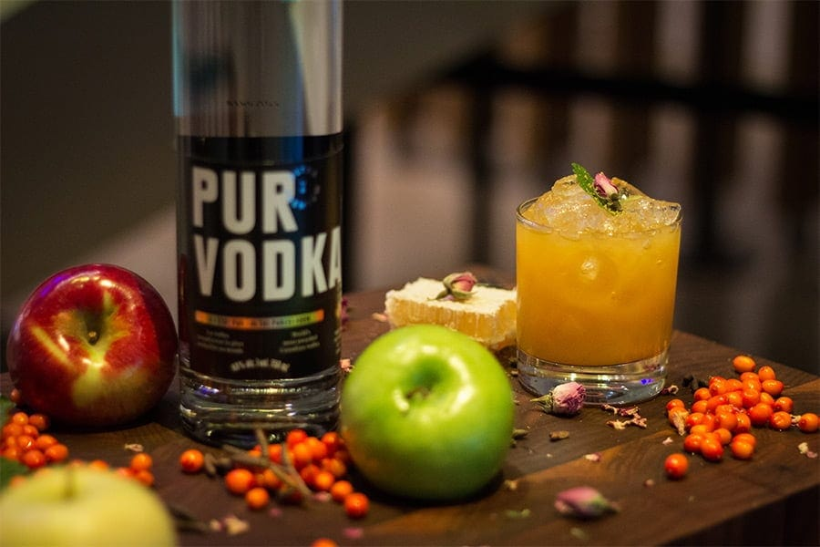 cocktail pur vodka pomme