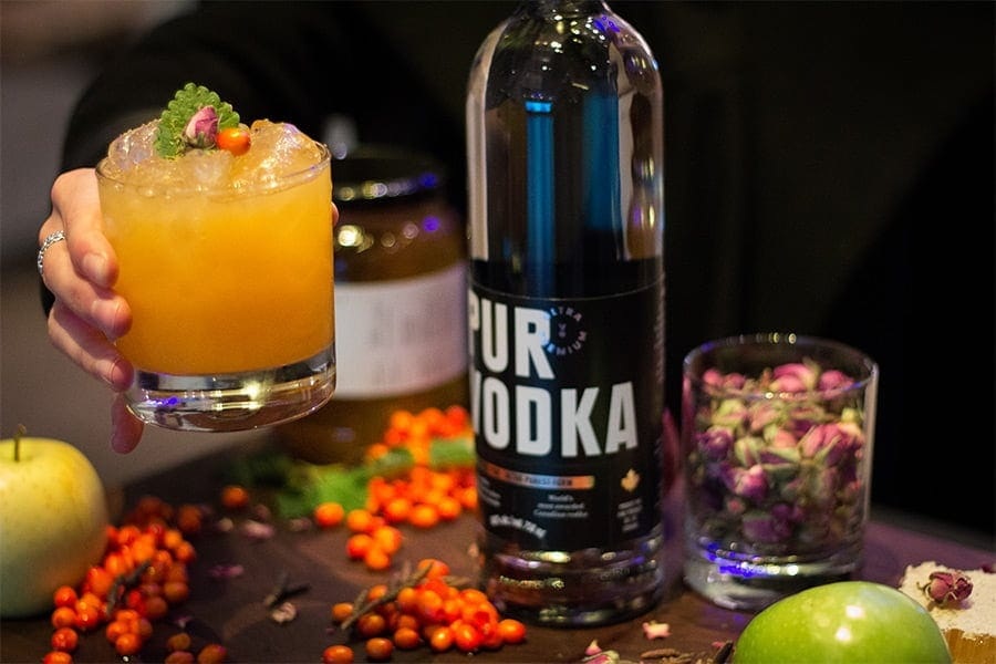 cocktail, argousier, adopteinc, pomme, vodka, purvodka, evenement
