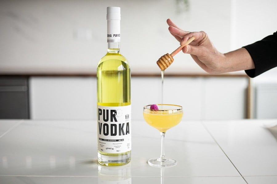 Pur Vodka Serie Autographe Edition 02 Miel Alveole Cocktail