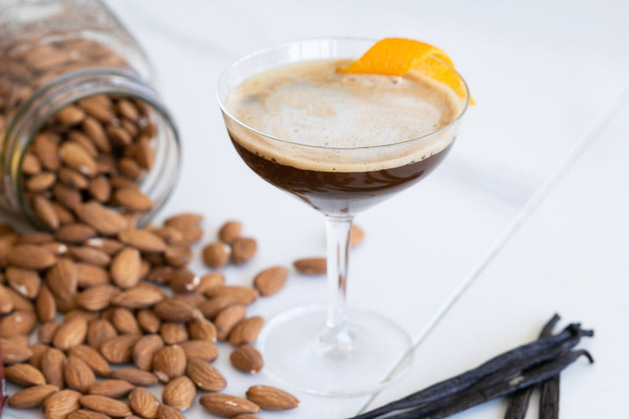 cocktail orange barista chaud pur vodka café amande vanille