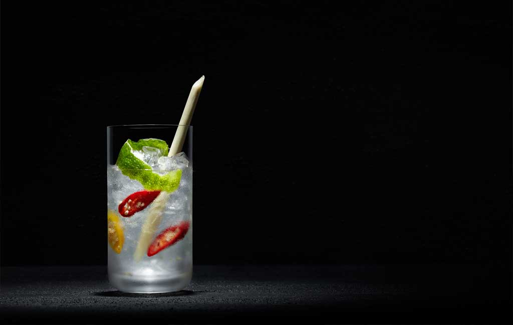Le Voyage is a fresh and spicy cocktail, with a taste of lime.
