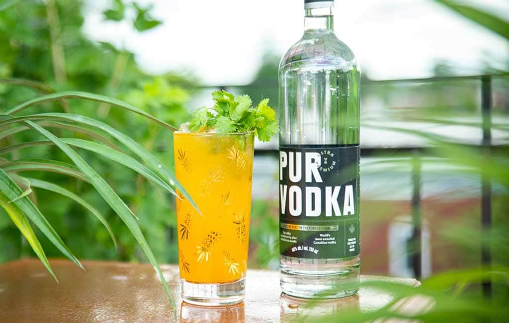 A refreshing Pur Vodka cocktail
